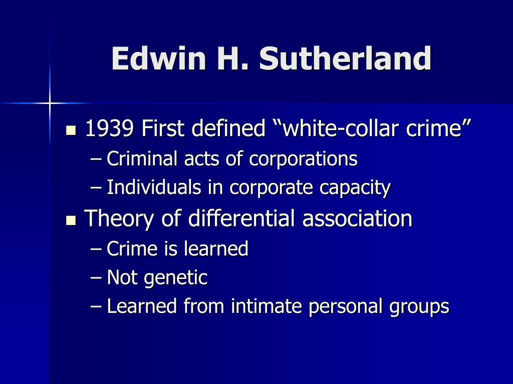 Edwin H. Sutherland