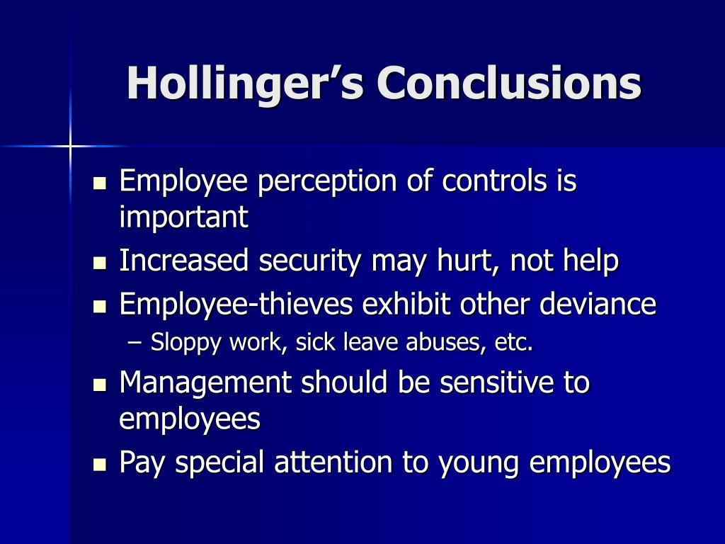 Hollinger's Conclusions