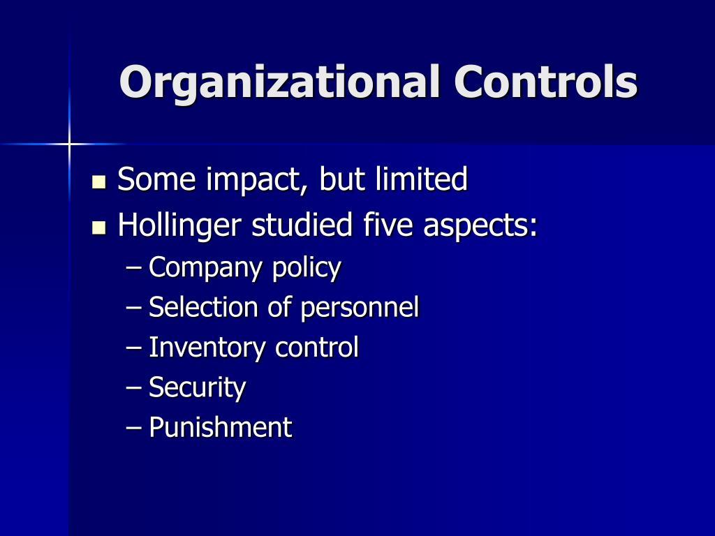 Organizational Controls