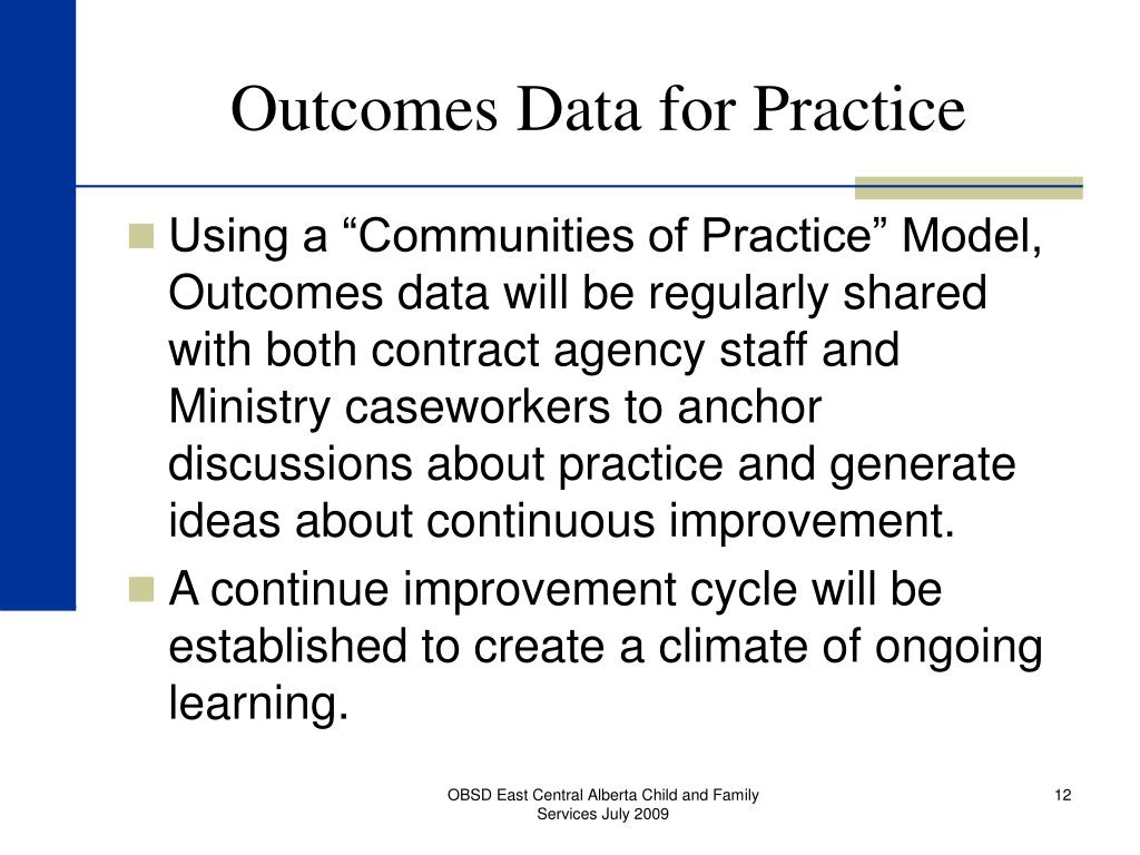 Outcomes Data for Practice