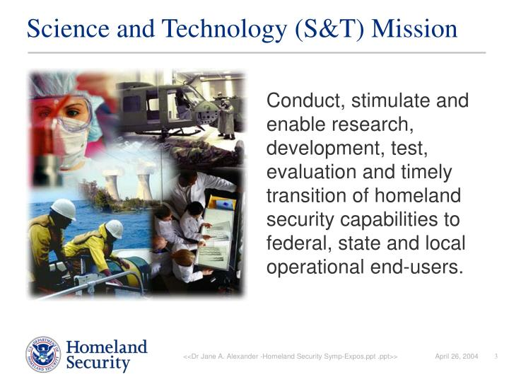 Science and technology s t mission