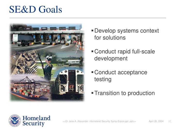 SE&D Goals