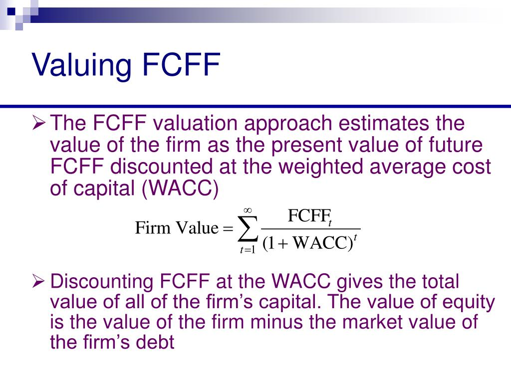 free cash flow valuation pdf