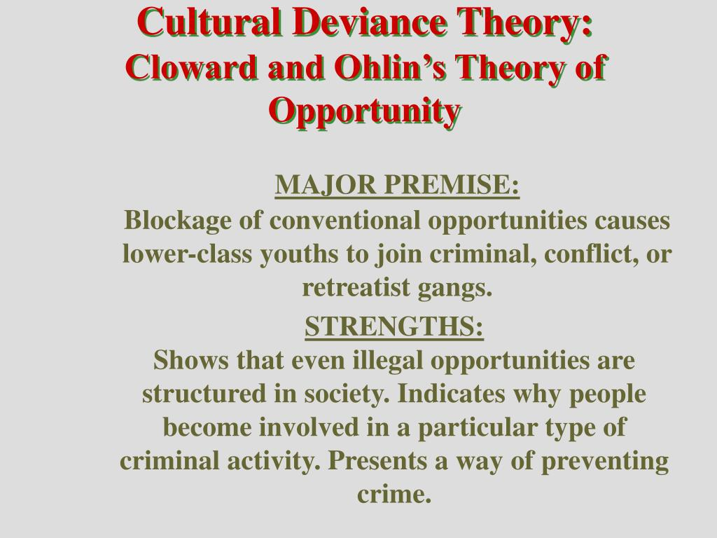 differntial association theory of devience essay Free social deviance papers essay on social deviance the first theory is edwin suntherland's differential association theory.