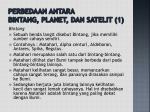 perbedaan antara bintang planet dan satelit 1