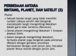 perbedaan antara bintang planet dan satelit 2
