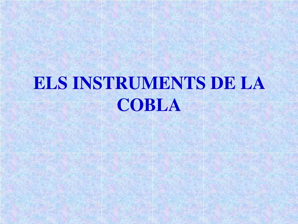 ELS INSTRUMENTS DE LA COBLA