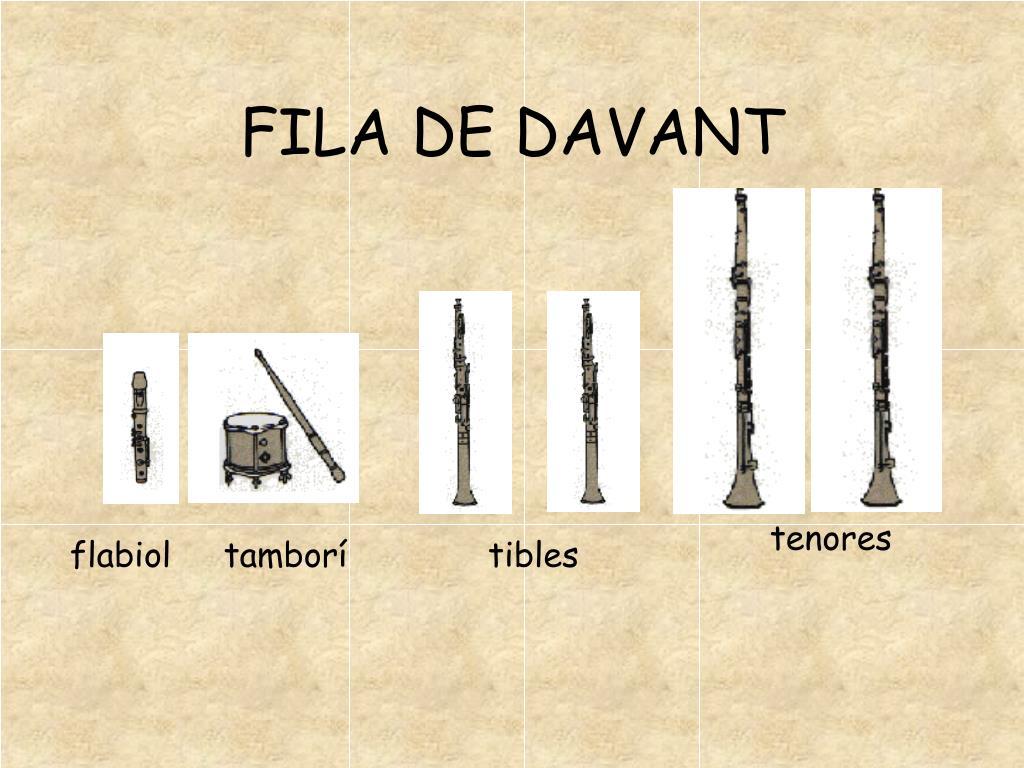 FILA DE DAVANT