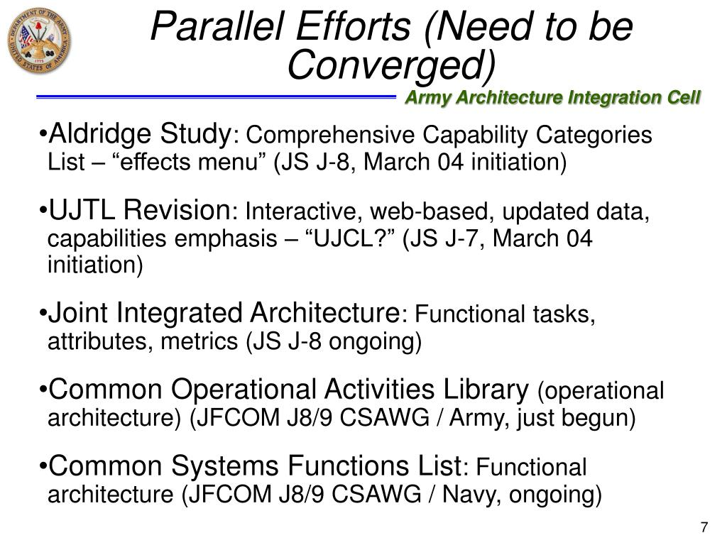 Parallel Efforts (Need to be Converged)