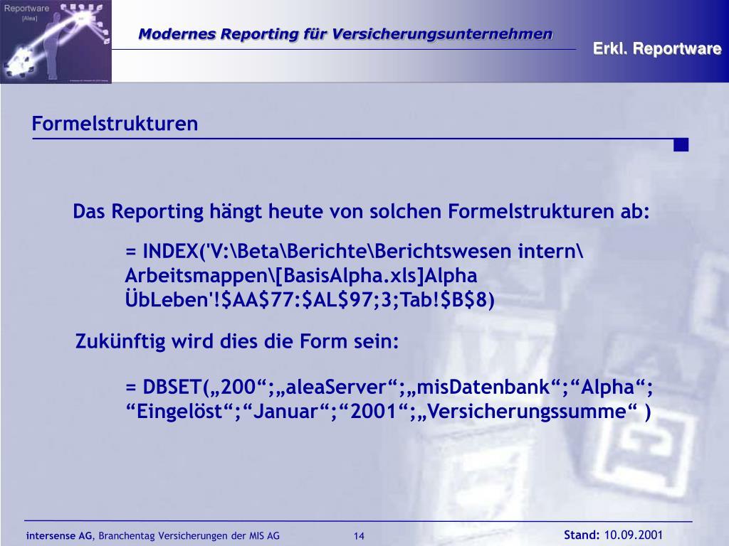 Erkl. Reportware