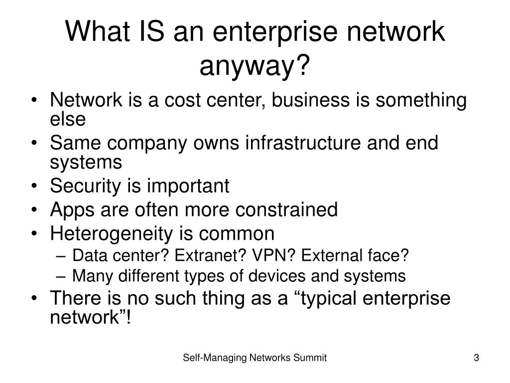 What IS an enterprise network anyway?