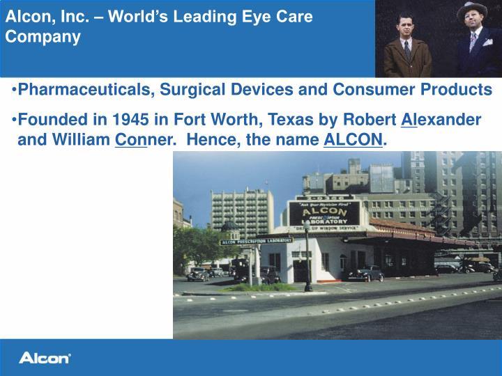 Alcon inc world s leading eye care company
