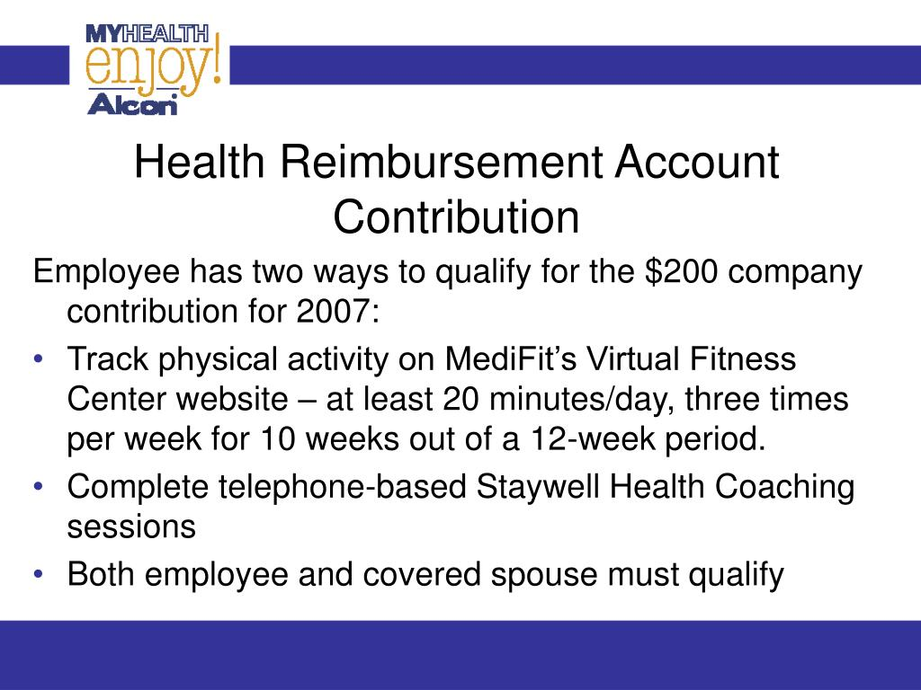 Health Reimbursement Account Contribution
