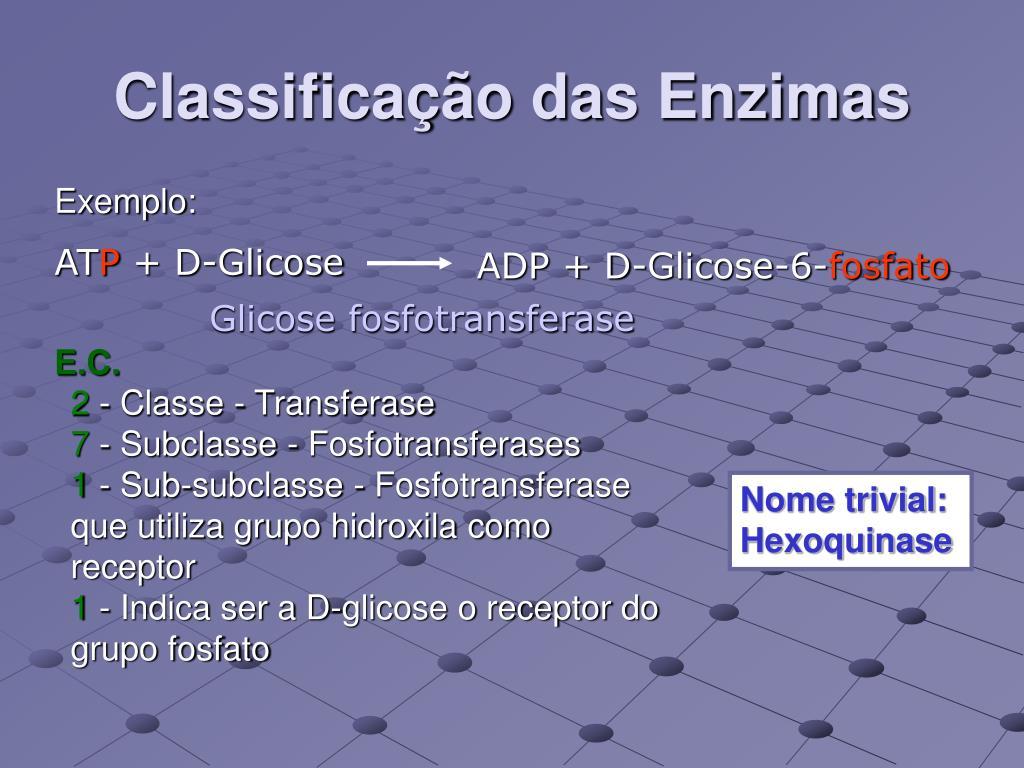 Classificação das Enzimas