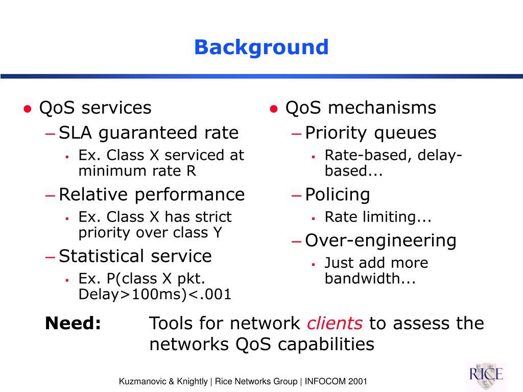 QoS services