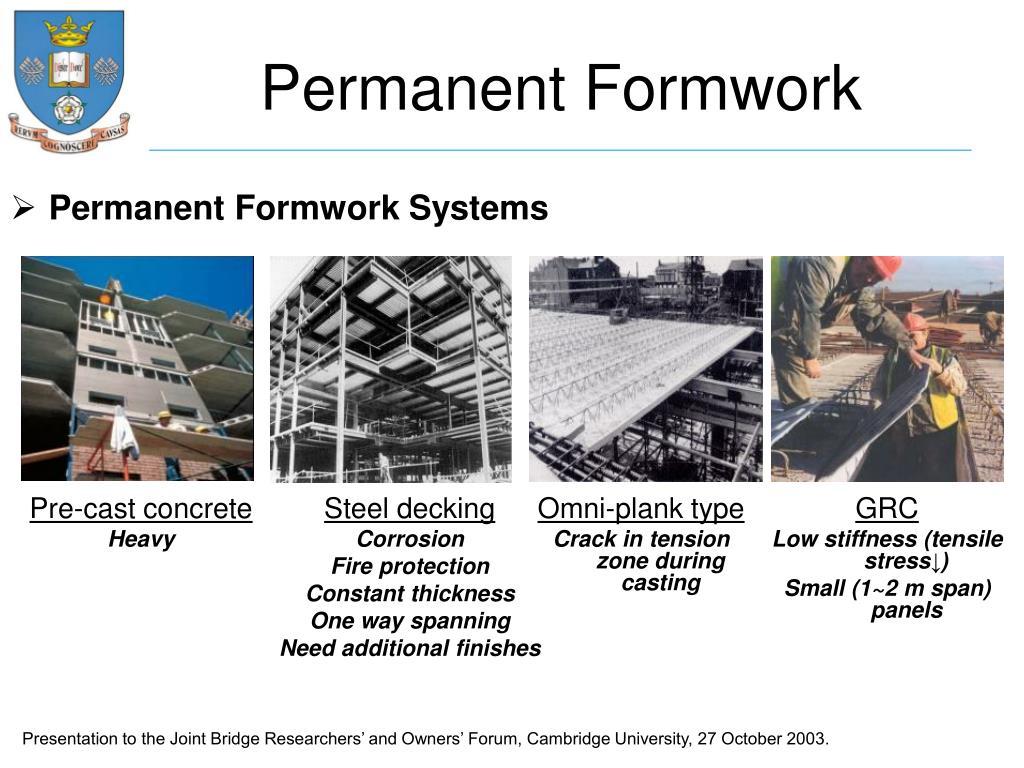 Permanent Formwork