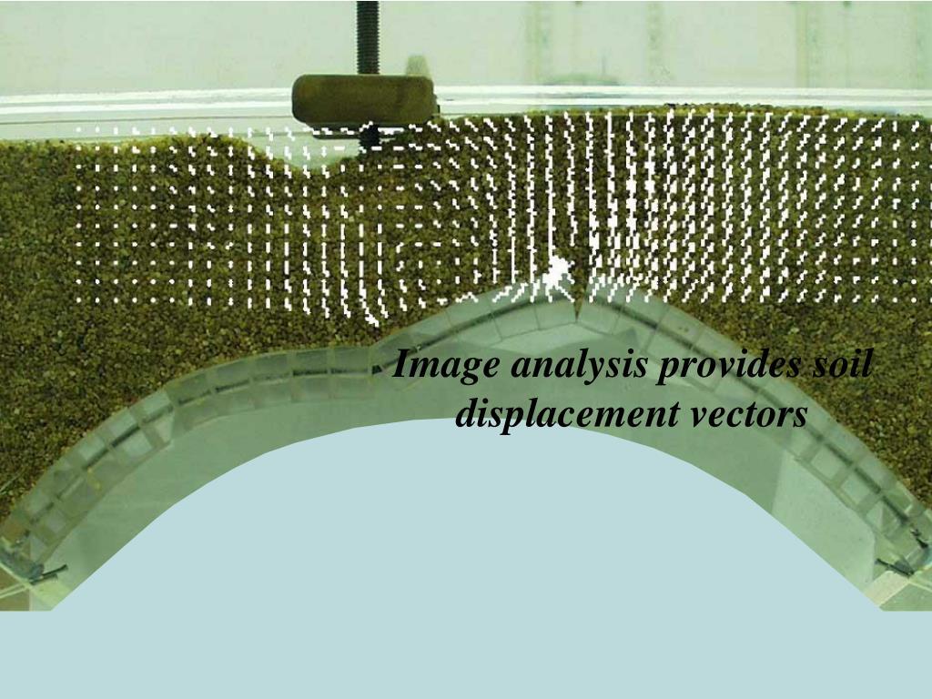 Image analysis provides soil displacement vectors
