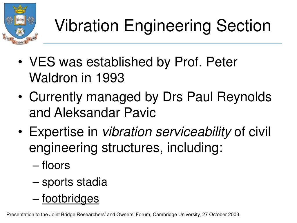 Vibration Engineering Section