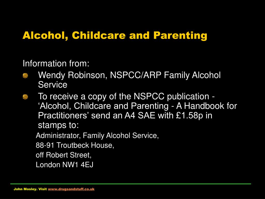 Alcohol, Childcare and Parenting