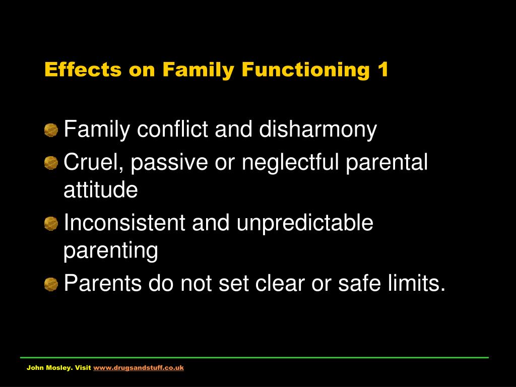 Effects on Family Functioning 1