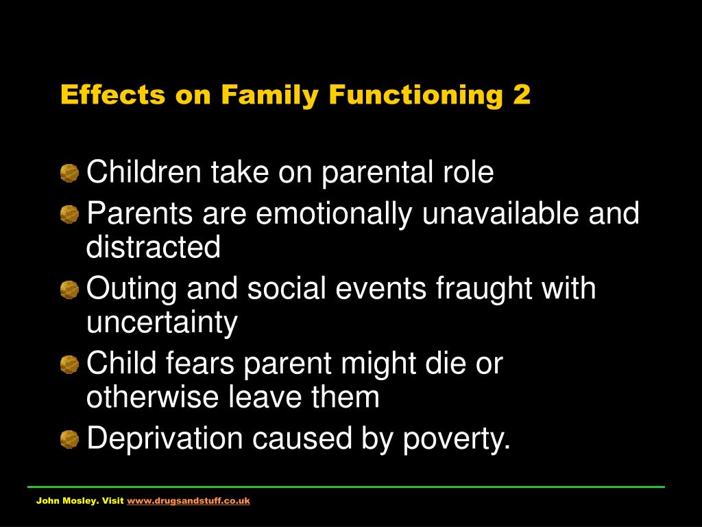 Effects on Family Functioning 2