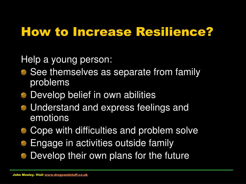 How to Increase Resilience?