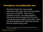 prevalence of problematic use