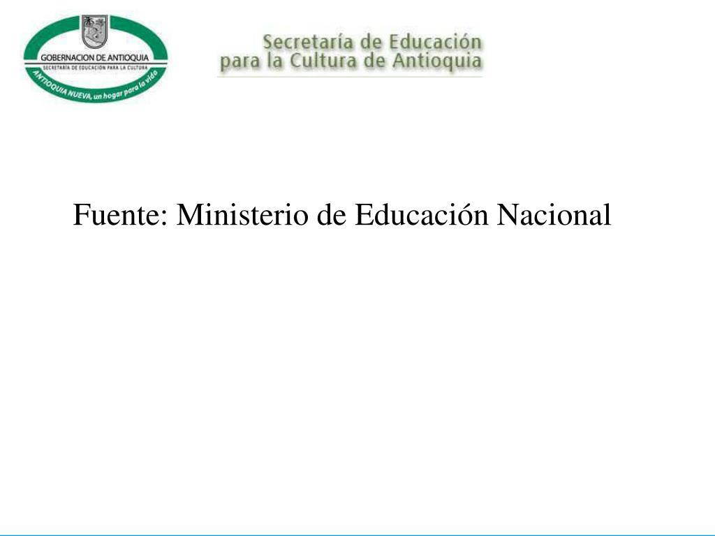 Fuente: Ministerio de Educación Nacional