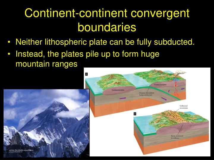 Continent-continent convergent boundaries