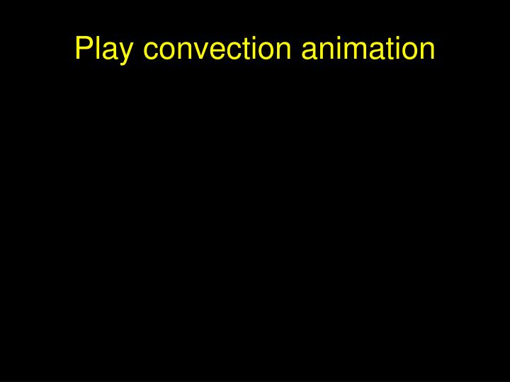 Play convection animation