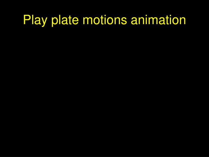 Play plate motions animation