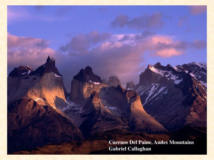 Cuernos Del Paine, Andes Mountains