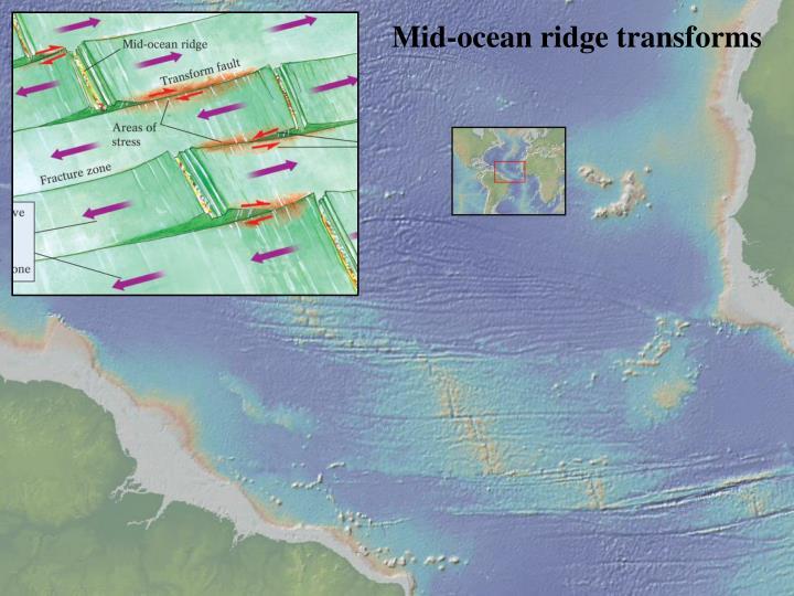 Mid-ocean ridge transforms