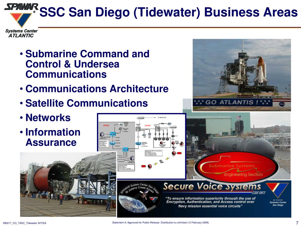 SSC San Diego (Tidewater) Business Areas