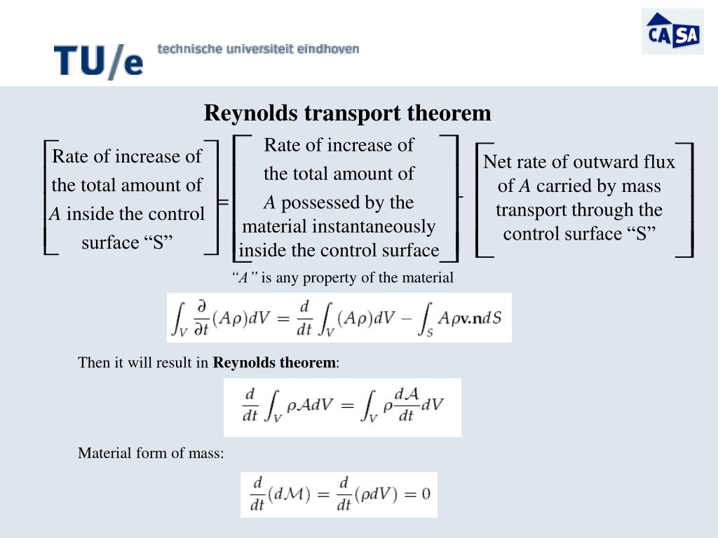 Reynolds transport theorem