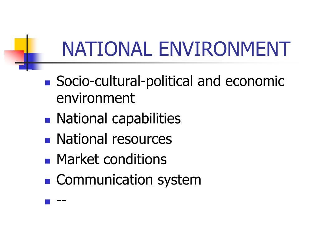 NATIONAL ENVIRONMENT