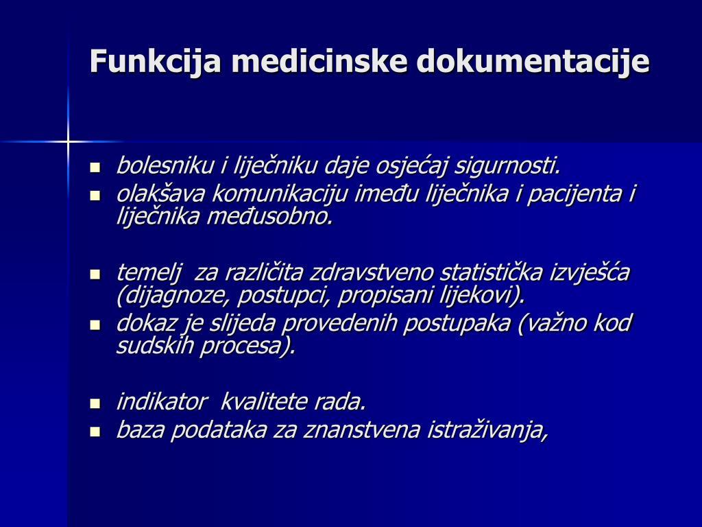 Funkcija medicinske dokumentacije