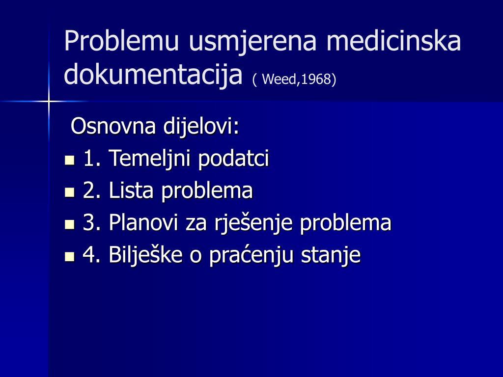 Problemu usmjerena medicinska dokumentacija