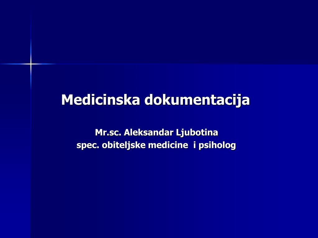 Medicinska dokumentacija
