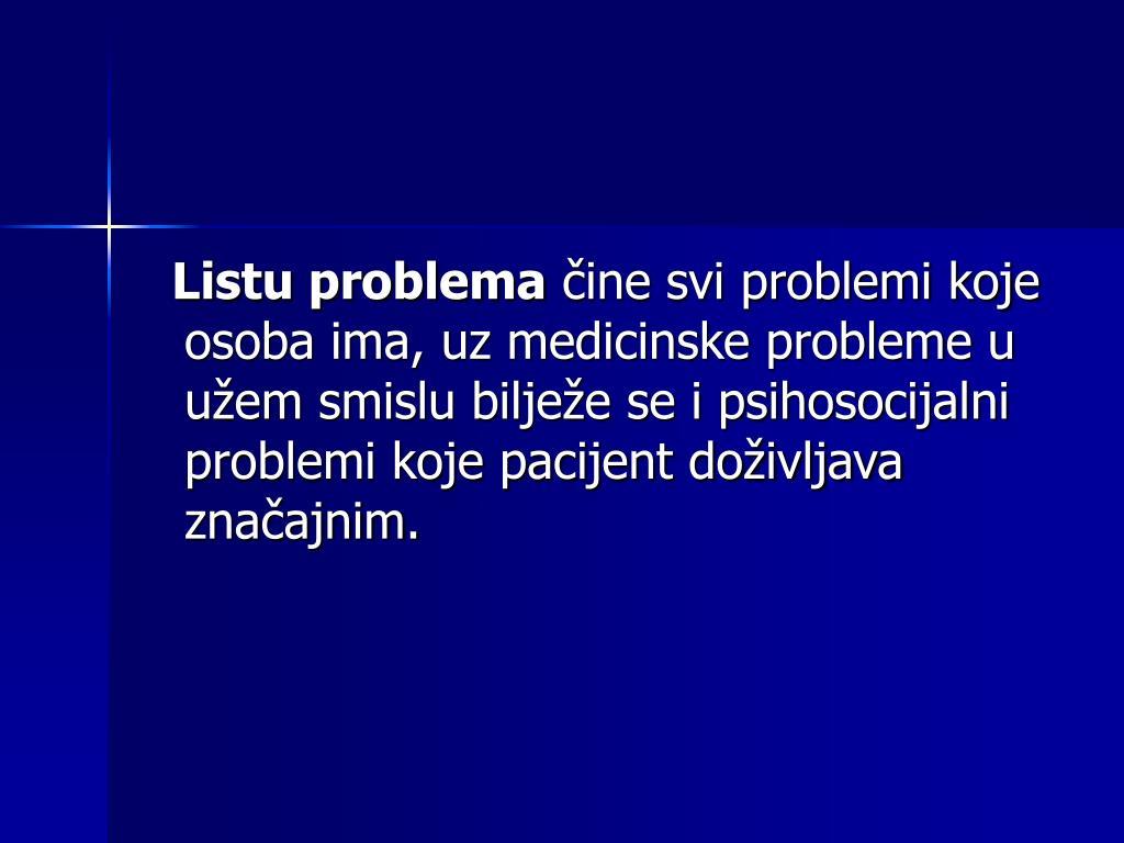 Listu problema