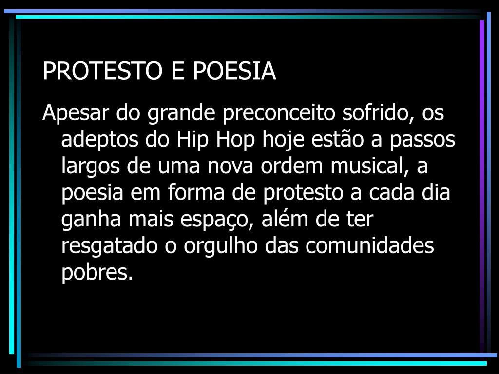 PROTESTO E POESIA