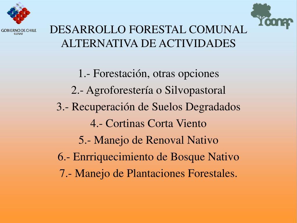 DESARROLLO FORESTAL COMUNAL