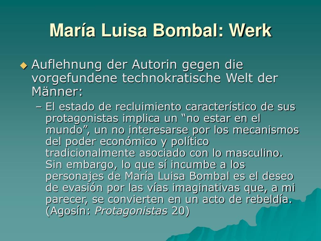 María Luisa Bombal: Werk