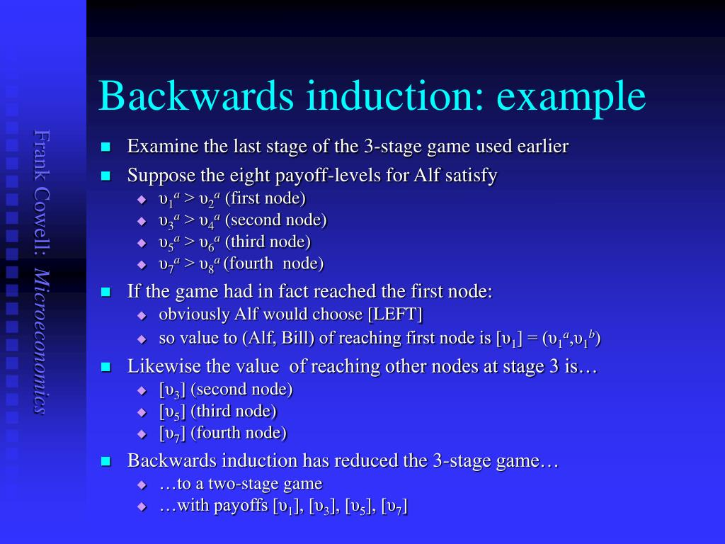 Backwards induction: example