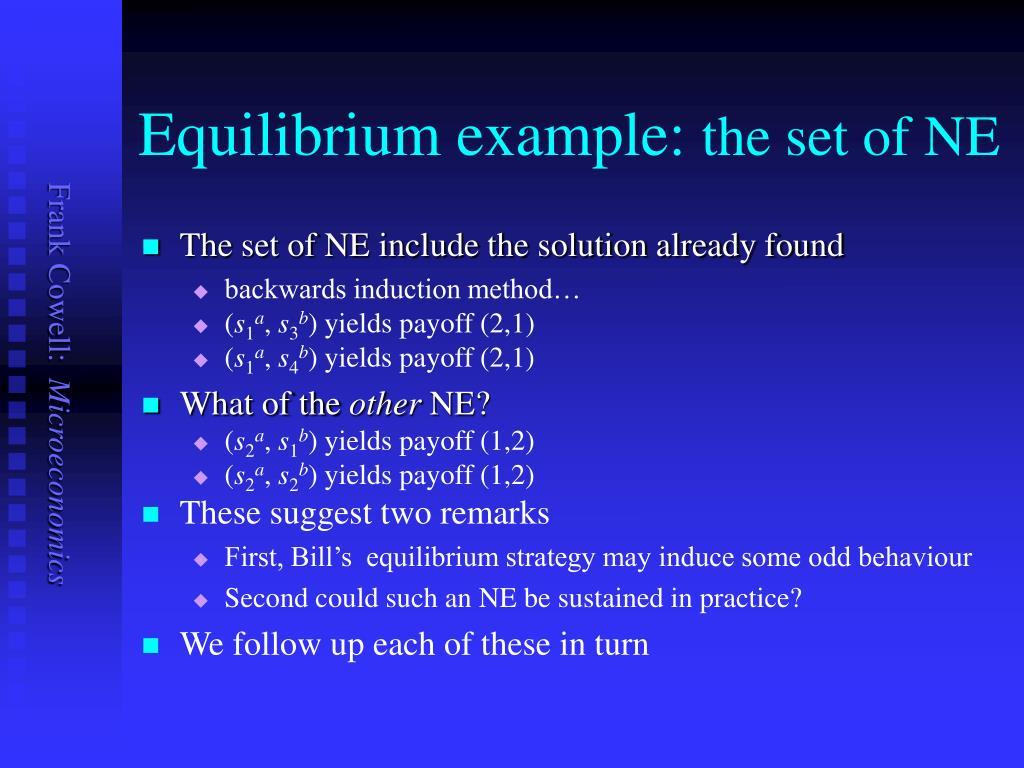 Equilibrium example: