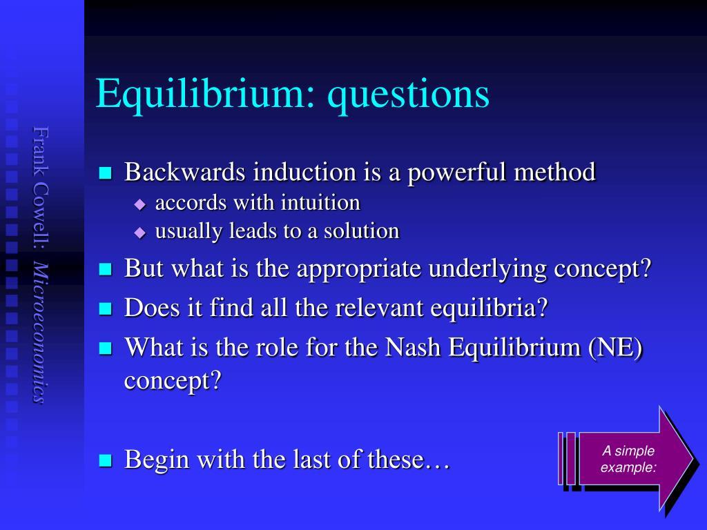 Equilibrium: questions