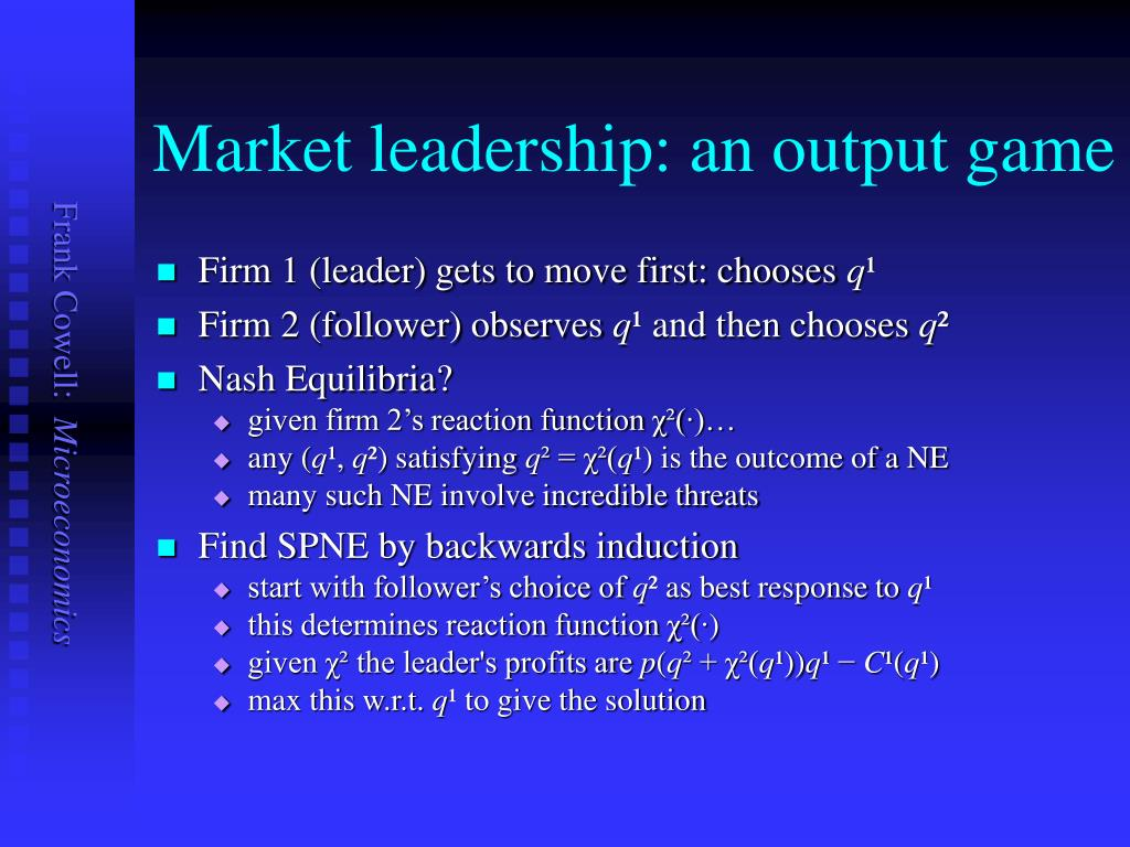Market leadership: an output game