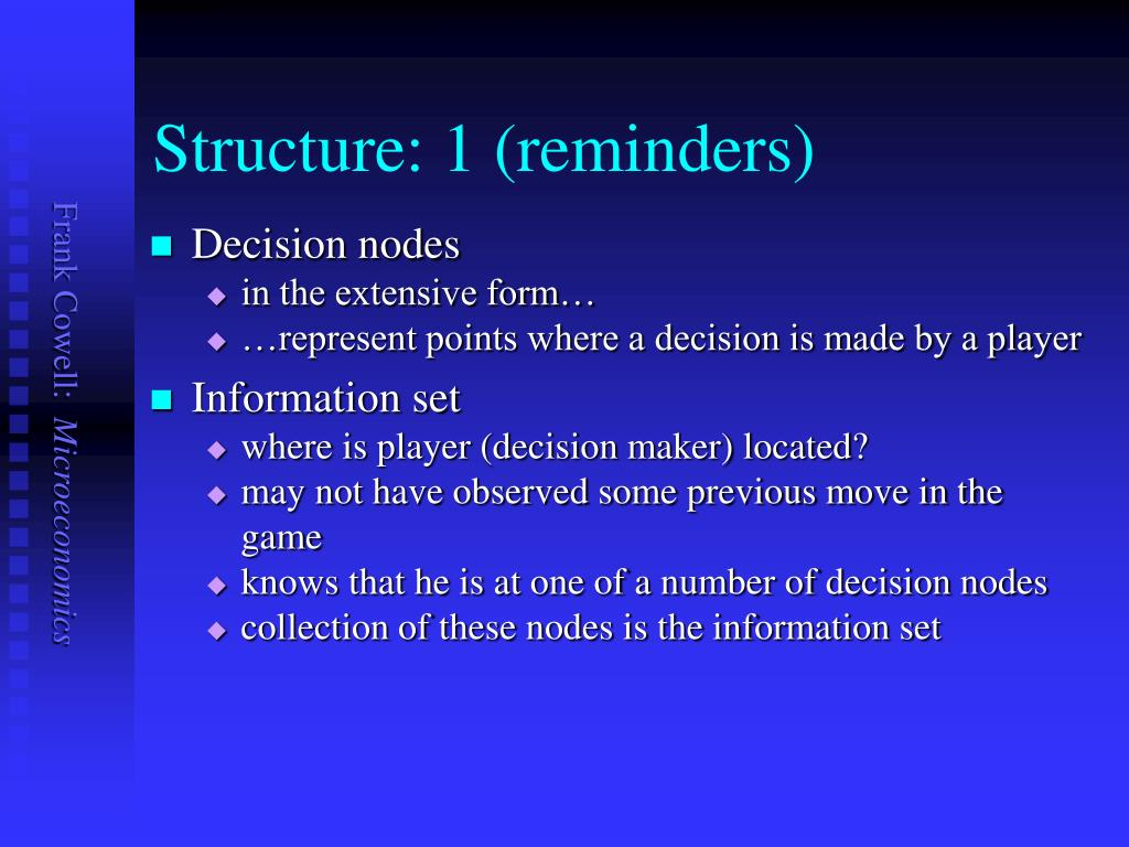Structure: 1 (reminders)