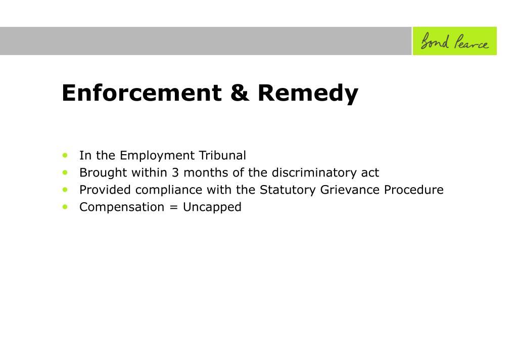Enforcement & Remedy