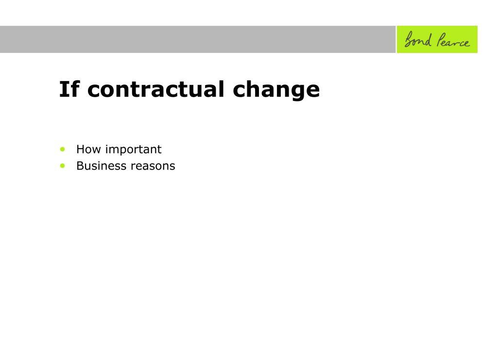 If contractual change
